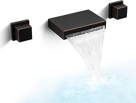 dr faucet wall mount bathroom waterfall