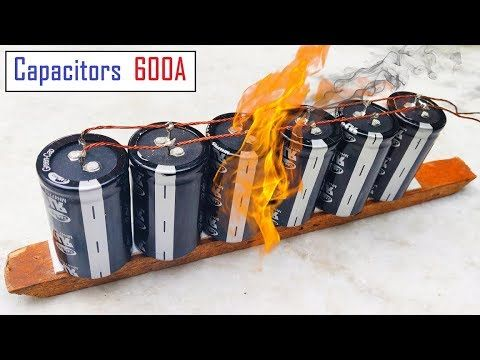 12v Battery Or 600 Amps Super Capacitor Pack For Dc Motor Awesome Idea Youtube Homemade Generator Electrical Projects Capacitor