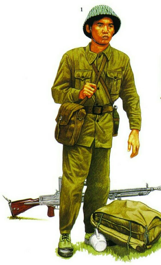 Viet Minh officer, Hanoi 1954 - pin by Paolo Marzioli