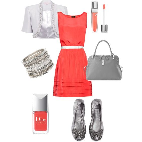I love coral and gray together