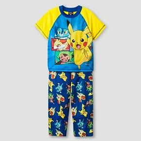 Pokemon Boys Pajamas Set-Yellow : Target