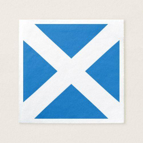 National Flag Of Scotland Saint Andrew S Cross Paper Napkins Zazzle Com Flag Of Scotland St Andrews Cross Party Paper
