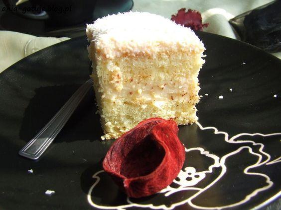 Ciasto kokosowe z budyniem | ANIA-GOTUJE