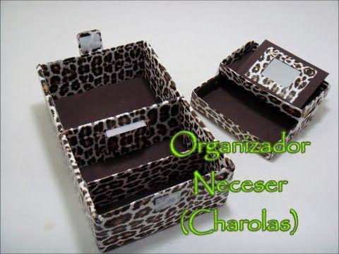 Organizador  tipo Neceser (Charolas) - Manualidades