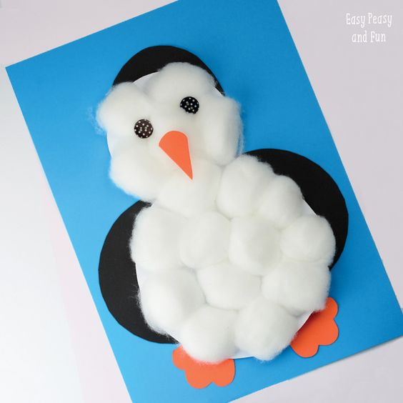 This cheeky penguin is an easy craft for preschoolers at Christmas time!