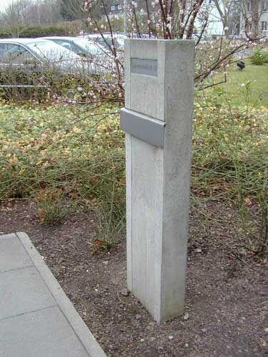 Briefkasten - Beton, Edelstahl | Haus | Pinterest | Briefkasten ...