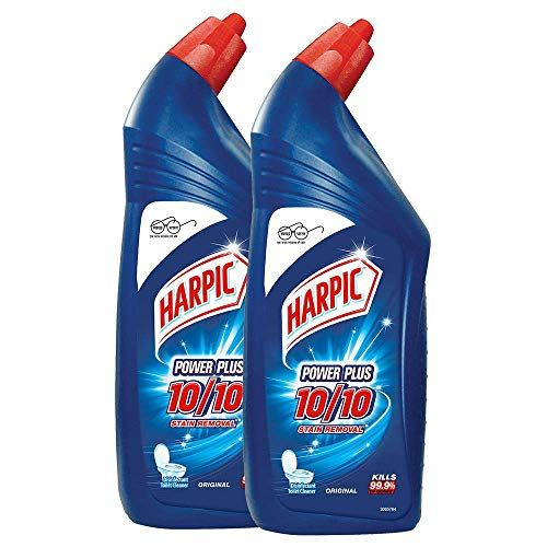 Harpic Powerplus Disinfectant Toilet Cleaner Original 1 L Pack Of 2 Harpic In 2020 Harpic Toilet Cleaner Bathroom Cleaner
