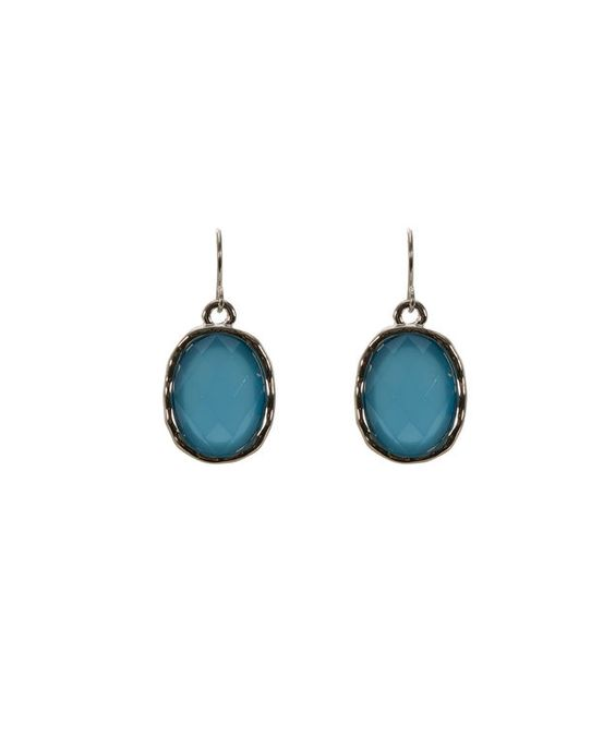 Faceted Stone Earring, Turquoise/Rhodium #rickis #spring #springfashion #spring2017 #rickisfashion #oceanblues #blue #colourofthemoment #loverickis