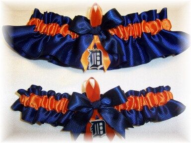 Handmade Wedding Garter Set Detroit Tigers by GartersByKristi, $48.00