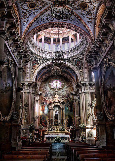 Interior Templo de San Antonio de Padua, Ags.