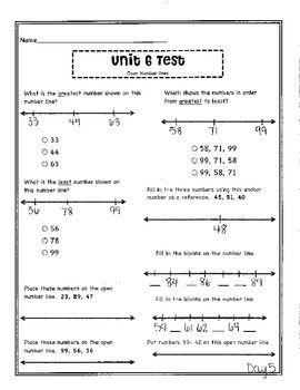 Free Worksheets : ordering numbers using place value worksheets ...
