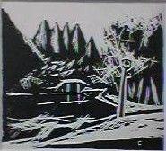 Yoshio Fujimaki Inokashira scenery   1934  It sends to a new print group small painting exhibition (April, 1934).   Multicolor wood engraving 15.5x17.0.   Kobayashi Choji exhibition Blackprint