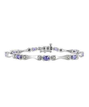 Another great find on #zulily! Silver & Purple Tanzenite Oval Bracelet #zulilyfinds