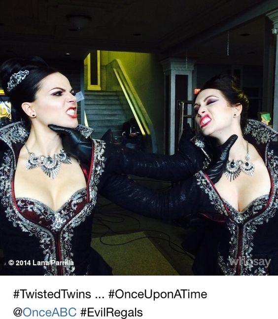 Lana Parrilla & her stunt double
