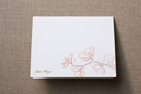 Orchid Personalized Stationery by SimpleTe Design at minted.com--already have