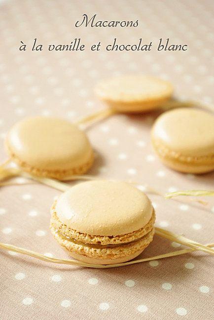 Macarons à la vanille et chocolat blanc