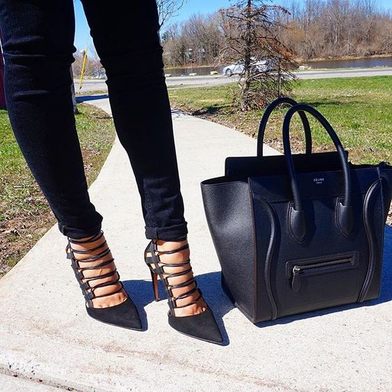 Aquazzura x Celine ▪️ Currently: in ❤️ with @aquazzura 's lace up shoes!