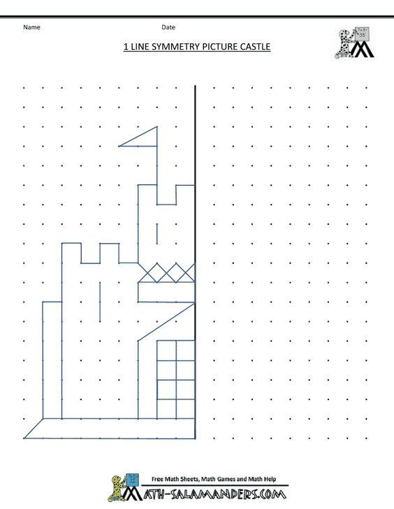 math worksheet : symmetry worksheets worksheets and castles on pinterest : Free Printable Worksheets Math
