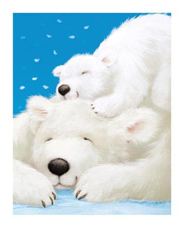 Fluffy Bears Having A Nap - by Alison Edgson