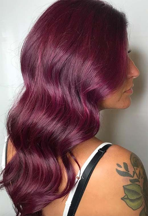 44++ Plum color hair dye ideas