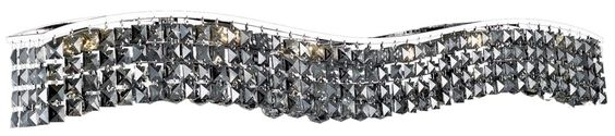View the Elegant Lighting 2041W44C-SS Contour 10-Light Crystal Wall Sconce, Finished in Chrome with Grey Silver Shade Crystals at LightingDirect.com.