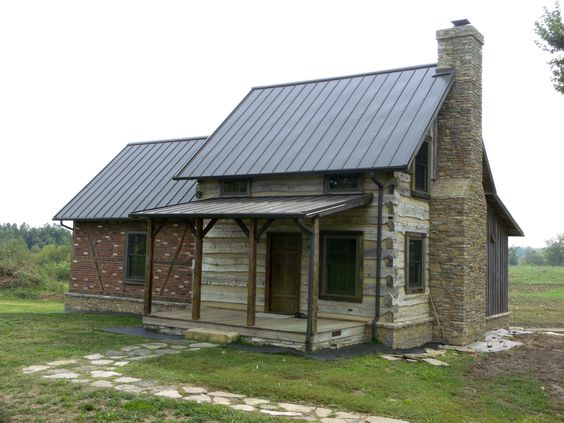 1820 39 s log barn with an english timber frame addition for Cottage additions