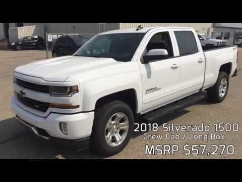 2018 Chevrolet Silverado 1500 Crew Cab Long Box 2lt Z71 White