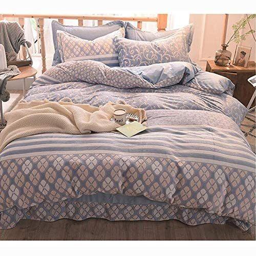 Jacquard Winter Flannel Duvet Cover Set Padded Multi Color Quilt Cover Warm Bedding Set 4 Piece Set Full J Twi Duvet Cover Sets Bedding Set Flannel Duvet Cover