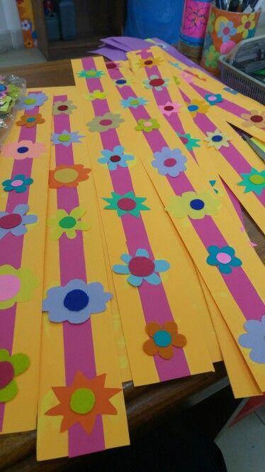 Orange Floral Borders Borders For Softboards Pinterest