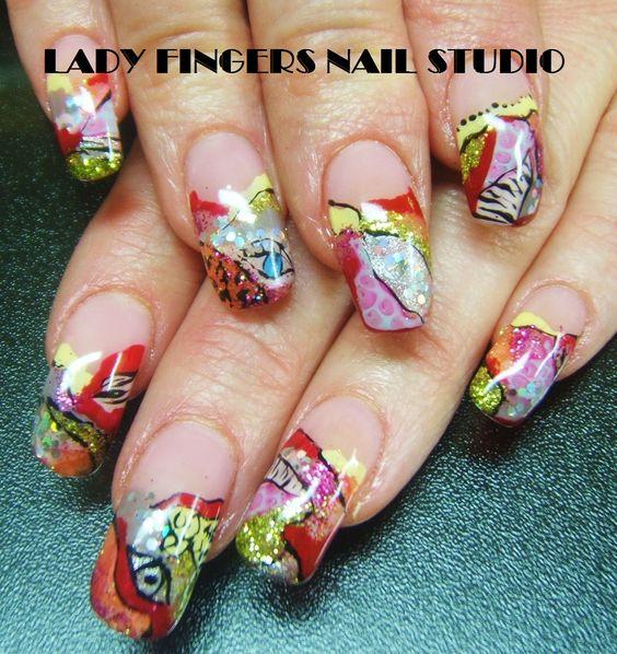 #nail #nails #nailart #nailporn #nailideas #naildesign #trendynails #gelnails #gelpolish #nailpolish #art #gelmanicure #manicure #funkynails #summernails #handpaintednailart #glitter #mixedmedia #animalprint