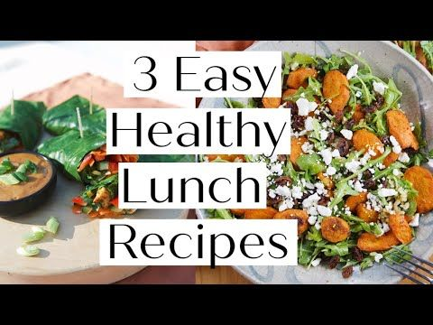 How To Make 3 Healthy Lunch Recipes Vegan Paleo Options Sanne Vloet Youtube In 2020 Easy Healthy Lunch Recipes Healthy Lunch Recipes Healthy Lunch