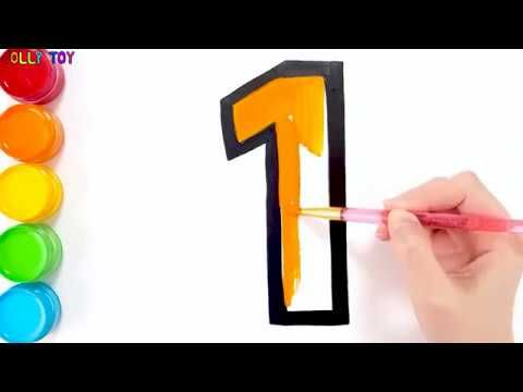 Glitter Number Coloring Pages Learn Colors Learn Numbers For Kids Jolly Toy Art Youtube Numbers For Kids Learning Colors Learning Numbers