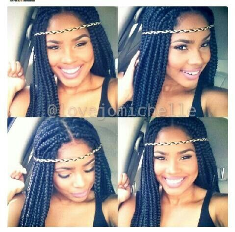 Tremendous Box Braids Protective Hairstyles And Hippie Headbands On Pinterest Short Hairstyles For Black Women Fulllsitofus