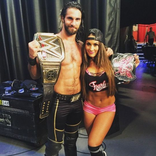 Seth Rollins and Nikki Bella l Divas Champion & WWE World Heavyweight Champion