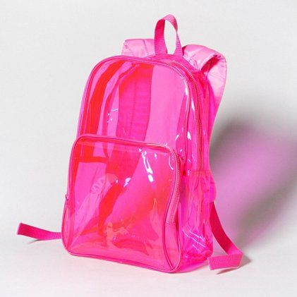 Neon pink jelly backpack