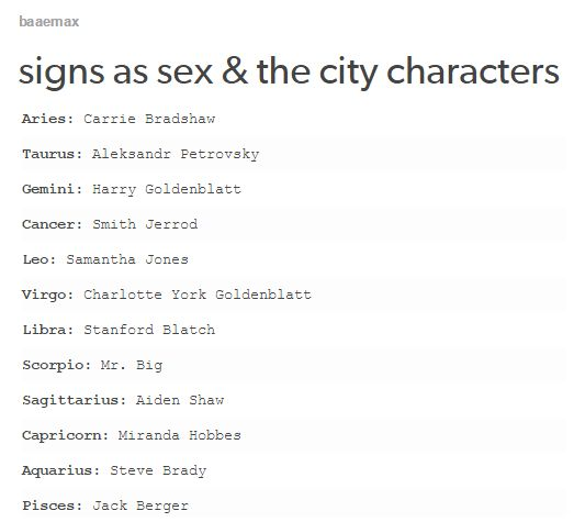 sex in the city main characters
