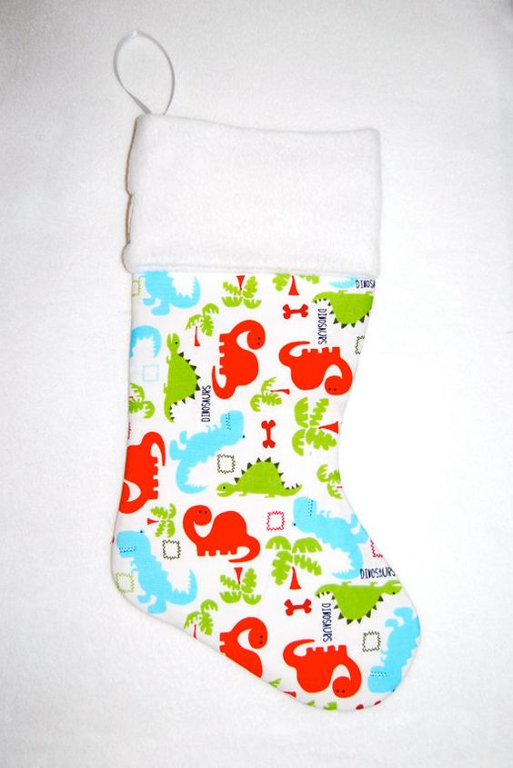Dinosaurs Christmas Stocking Cyndiloo Boutique by cyndilooboutique, $20.00