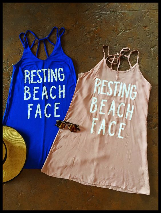 Resting Beach Face Cover-up/ Casual Dress-Blush/Bright Blue