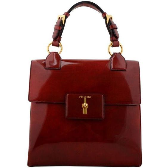 prada green wallet - PRADA Spazzolato Fume Square Bag ($2,175) ? liked on Polyvore ...
