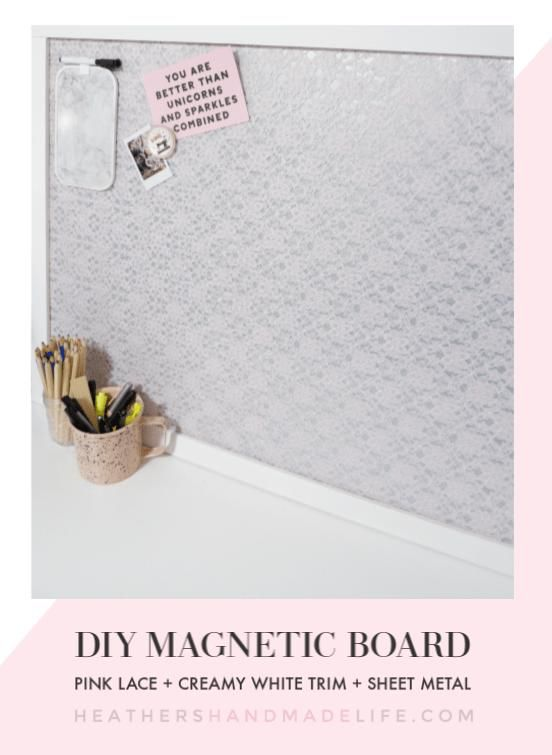 Magnetic Board In 2020 With Images Diy Magnet Board Magnetic Board Diy Memo Board