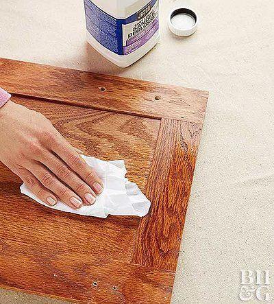 Rubbing Liquid Sander Deglosser On Cabinets Paintingkitchencabinets In 2020 Painting Kitchen Cabinets Kitchen Cabinets Parts Old Kitchen Cabinets