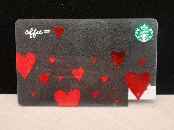 Starbucks Card Starbucks Gift Cards Pinterest Valentines
