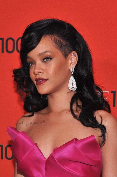 Rihanna Long Curls