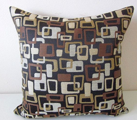 Retro Mid Century Modern Pillow Cover by DesignerPillows4U on Etsy