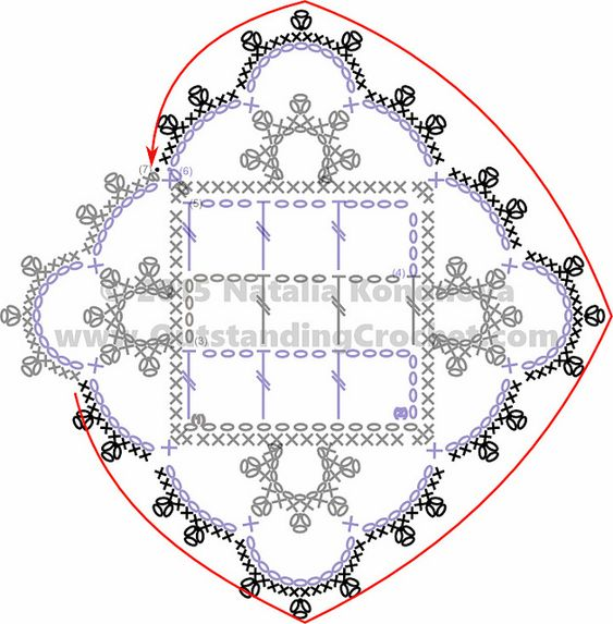 Outstanding Crochet: Free Crochet Chart Reading Tutorial - Step-by-Step Photos and Charts. Part 2.