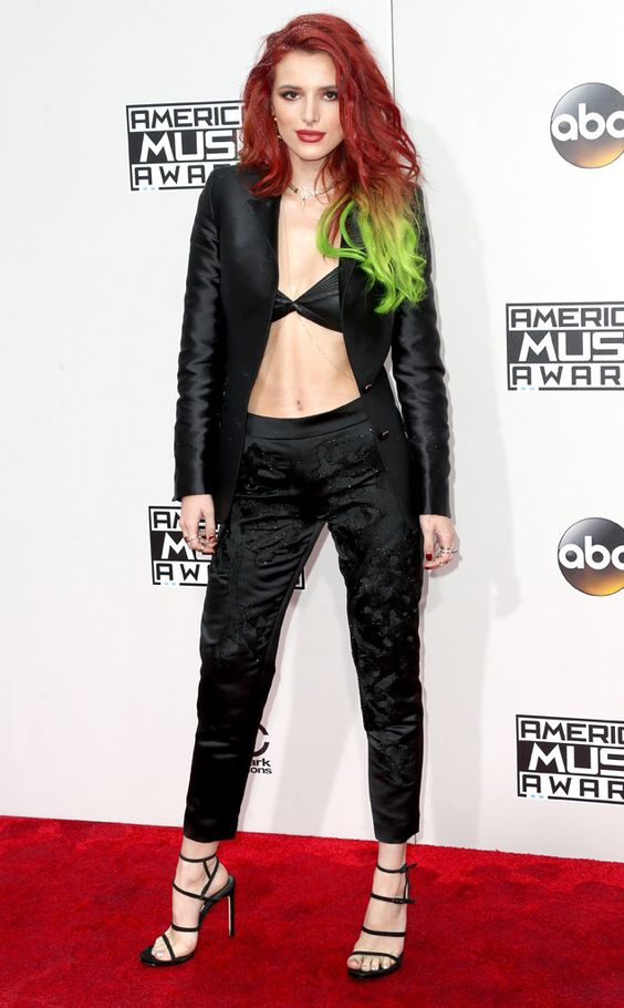 Bella Thorne from 2016 AMAs Red Carpet Arrivals  InAnthony Franco