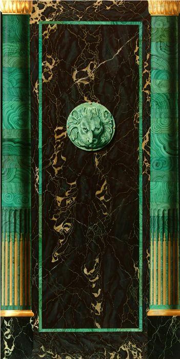 Empire faux bois and style on pinterest - Vert de malachite ...
