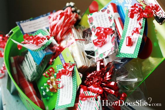 12 Days of Christmas!  Give your kids' teachers a bunch of school supplies that they need with some treats for a gift for Christmas. Made much more fun, by turning it into the 12 Days of Christmas. Each day your kid can sneak in and leave a little goodie on his/her desk along with a cute rhyme.