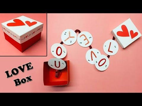 Love Box Card Greeting Cards Latest Design Handmade I Love You