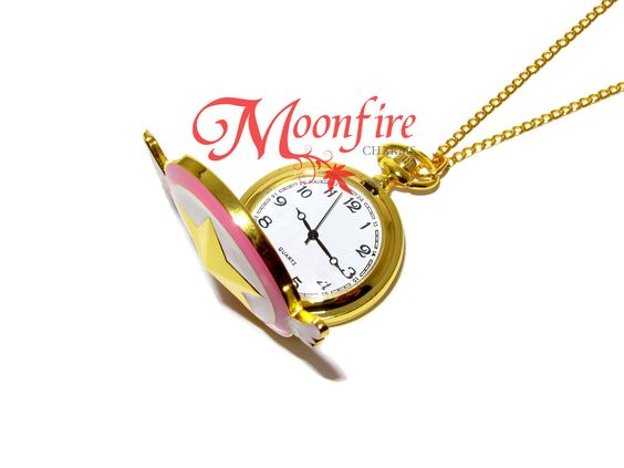 CARDCAPTOR SAKURA Star Wand Pocket Watch Necklace: